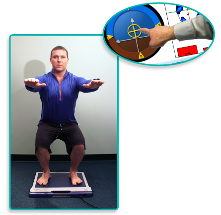 Use the biofeedback from the Balance Compass to educate about balance.