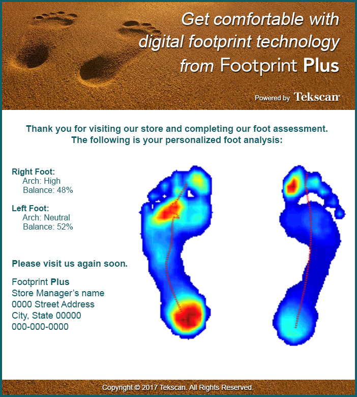 Email test results with customers' digital footprint to continue the engagement post-store visit.