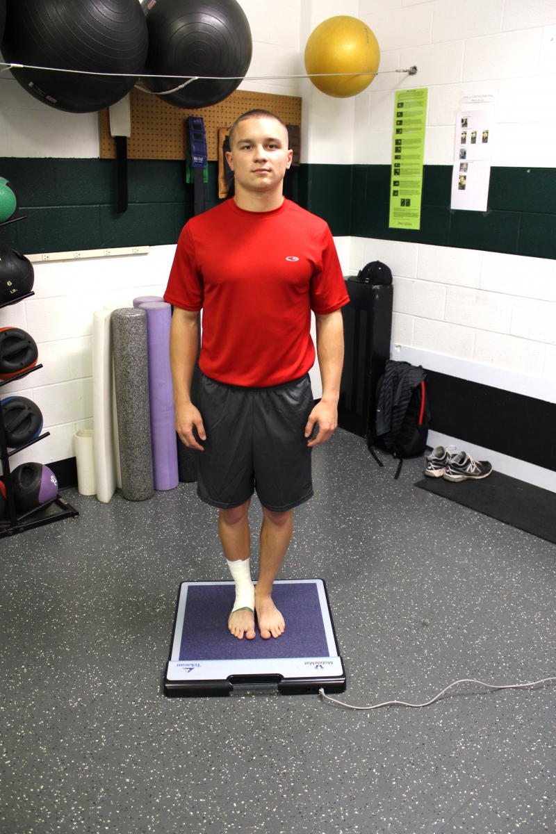 Athlete is tested on our portable MobileMat.