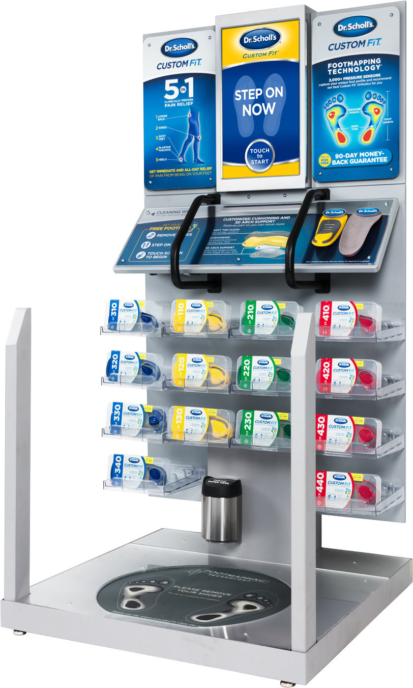 The Custom Fit Orthotics kiosk that Dr. Scholl's and Tekscan worked together to develop.