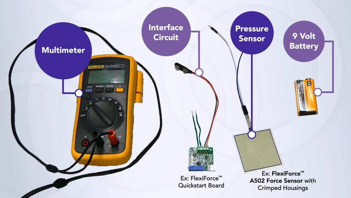 How To Create A Pressure Sensor Pad Tekscan Making Circuit Board From Scratch Youtube Interface Flexiforce Quickstart Feedback Display Fluke Digital Multimeter Power Supply Single 9v Battery