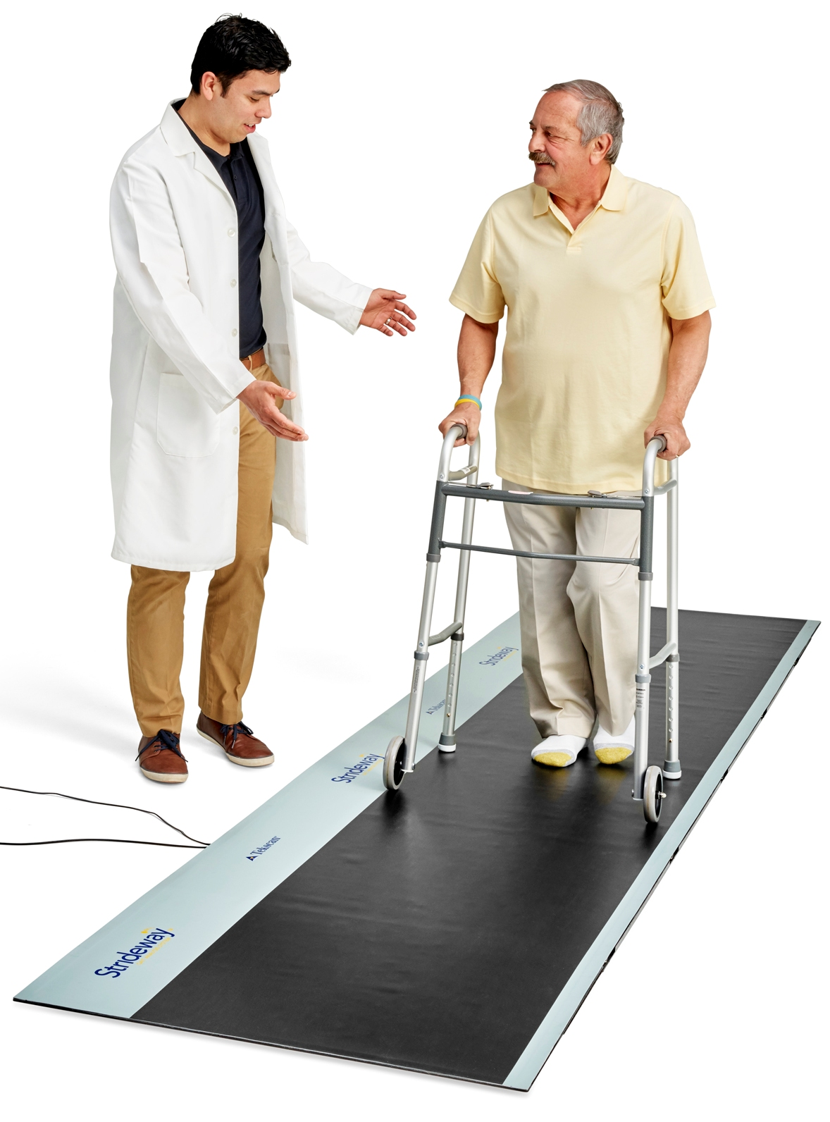 Strideway easily accommodates patients with walkers or other types of walking aides.