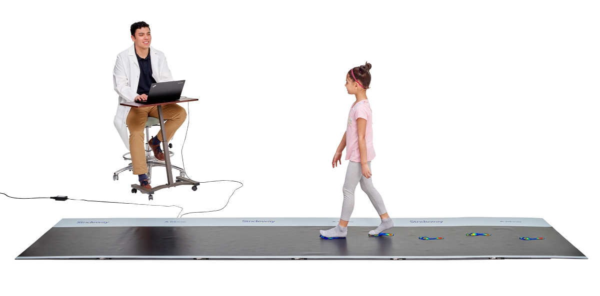 Strideway is a versatile product that can be used for any patient type, including those with walking assistive devices.