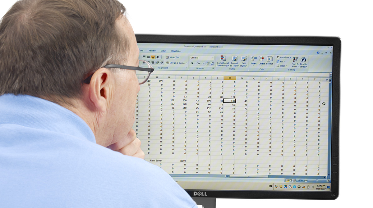 Tekscan software provides researchers with the ability to analyze data in greater detail.
