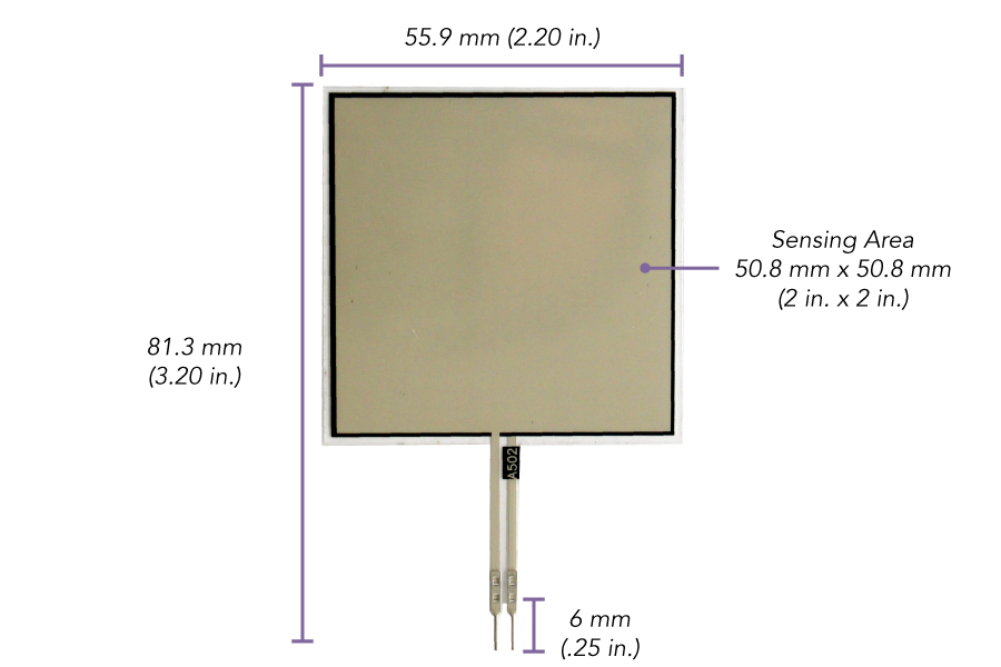 Square Force Sensing Resistor | FlexiForce A502 Sensor