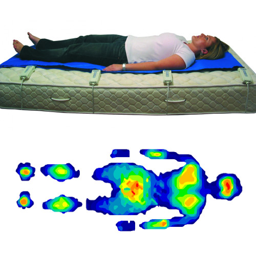 Body pressure mapping in a mattress configuration