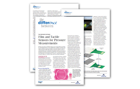 The Difference Between Film & Tactile Sensors for Pressure Measurements