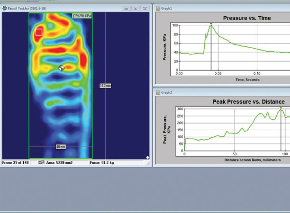 rifle recoil testing software pressure output