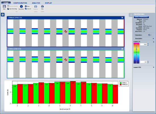 Sample software output from Tekscan's NPAT