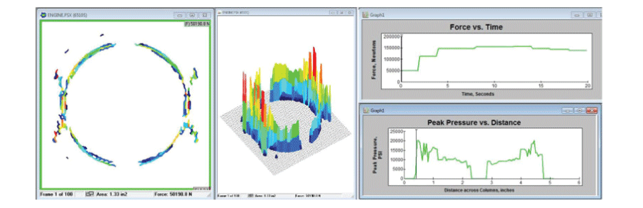 Pressure Mapping software output
