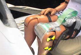 Crash test dummy impact measurement